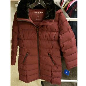 Andrew Marc Ladies' Long Stretch Parka XL
